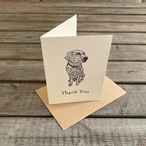 'Ellie the Golden Retriever' Thank You Card Set