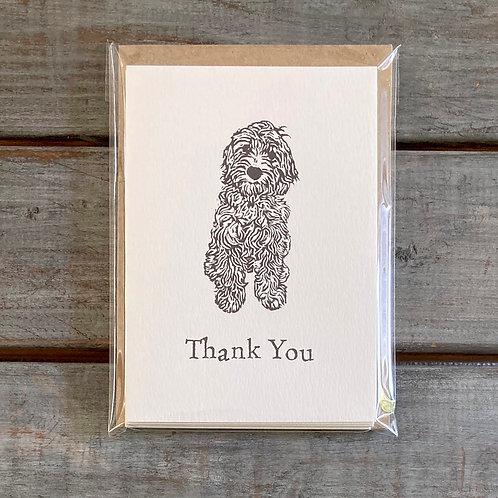 'Coco the Cockapoo/ Labradoodle' Thank You Card Set