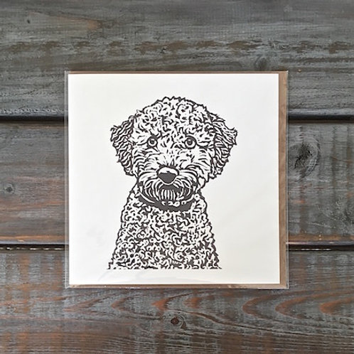 Bella the Poodle Card