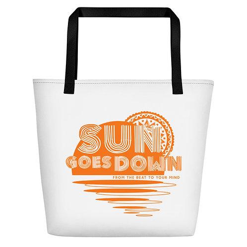 Beach Bag Sun Goes Down
