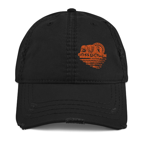 Distressed Sun Goes Down Hat Classic