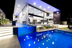 lap pool overflow to main pool