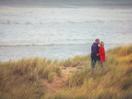 engagement shoot - Llangennith Beach