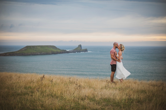 Rhossili engagement session, south wales wedding photography