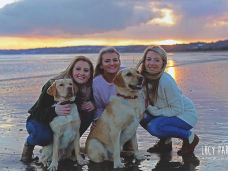 Sister shoot at swansea Bay