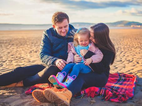 Aberavan beach family shoot