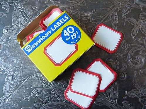 Petite boîte d'étiquettes gommées Dennison No. 209 - Années 50-60