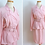 Thumbnail: Pretty in pink pink long sleeve dress with white polka dots