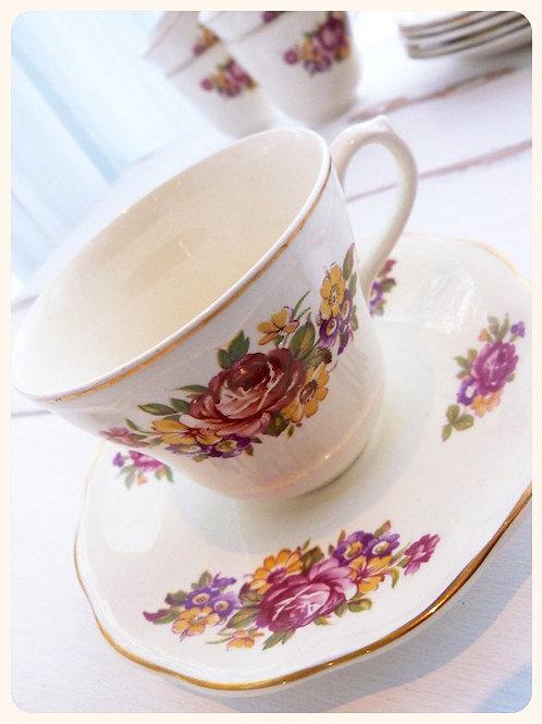 Regency British Anchor Set of 6 Earthenware Tea Cups