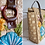 Thumbnail: Straw embroidered tote bag - vinyl handles