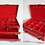 Thumbnail: Jewelry box 3 levels in red faux croco - Buxton