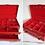 Thumbnail: Boîte à bijoux 3 niveaux en simili croco rouge - Buxton
