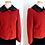 Thumbnail: Manteau court rouge en laine, col fourrure