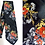 Thumbnail: Cravate brocard noire, motifs floraux - Renée de Deauville