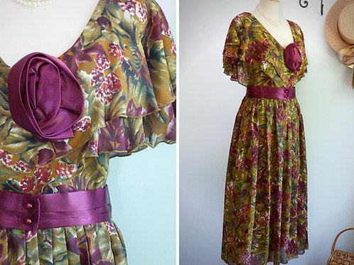Robe longue rétro Granny-Chic