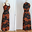 Thumbnail: Robe longue sans manches années 70, motif coquelicot