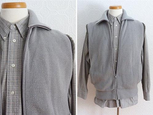 Veste en laine sans manches rembourrée