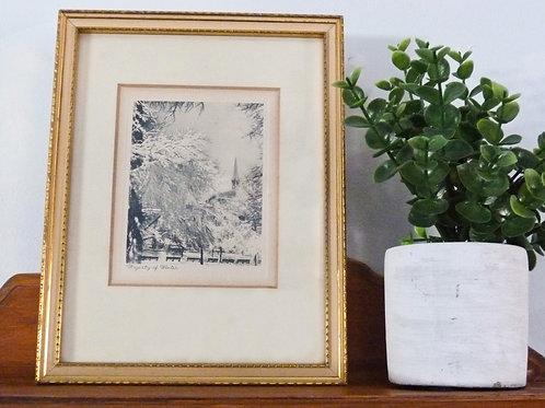 Framed work - Majesty of Winter - Black & White Print