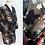 Thumbnail: Peignoir noir translucide à motif floral