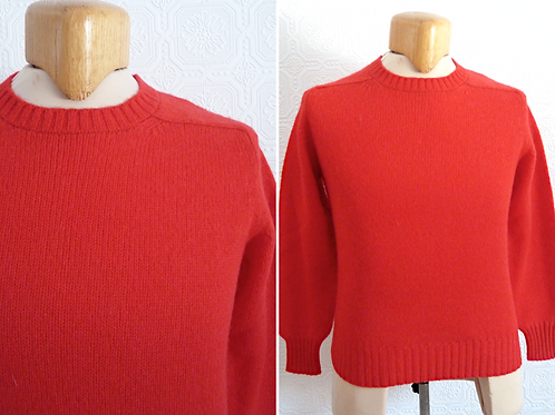 Chandail / pull rouge 100 % pure laine vierge - WOLSEY
