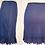 Thumbnail: Jupon court bleu avec garniture festonnée