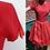 Thumbnail: Robe courte avec jupe plissée en soie - Henri Bendel