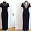 Thumbnail: Robe de soirée en velours noir, décolleté translucide, perles - LORI WEIDNER
