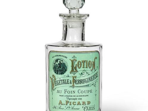 Flacon à lotion ovale en verre style vintage - Vert