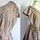 Thumbnail: Robe en taffetas beige à carreaux, fait-main - années 50