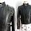 Thumbnail: Blouson de moto en cuir avec doublure amovible - Années 70-80