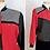 Thumbnail: Veste Teddy Années 80 - Pied-de poule, rouge et noir