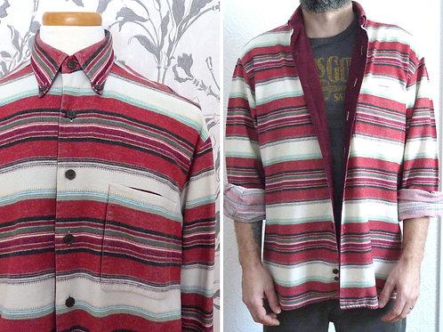 Hugo Boss long-sleeved flannel and corduroy shirt