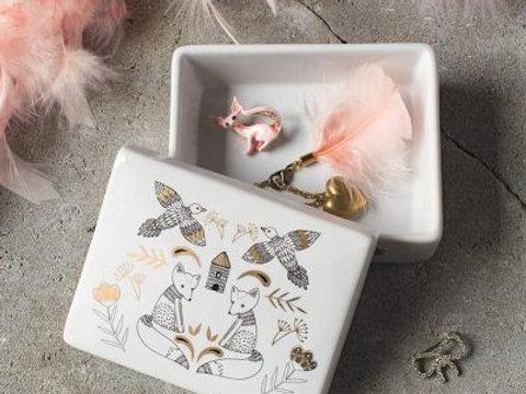 Boite à bijoux en céramique Danica