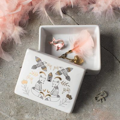 Danica ceramic jewelry box