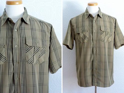 Chemise à carreaux kaki - Années 80