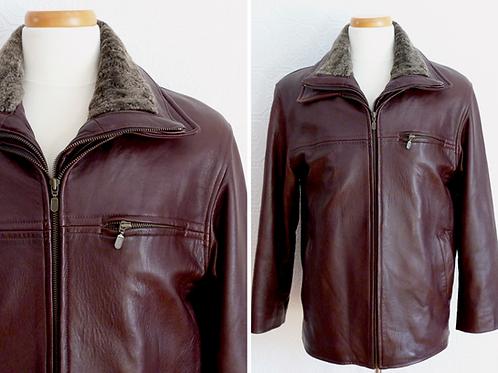 Blouson / Veste aviateur en cuir, doublure amovible