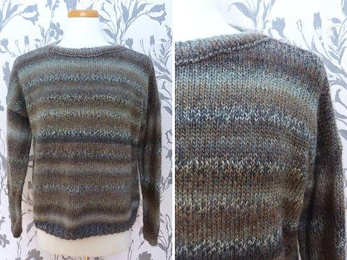 Chandail en laine tricoté mains - Extra-large