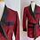 Thumbnail: Short lounge smoking jacket robe - Majestic - 1950s