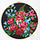Thumbnail: Japanese flowers wall decoration - Embroidery hoop and vintage scarf