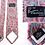 Thumbnail: Cravate rose à motifs cachemire - Monsieur Pierre