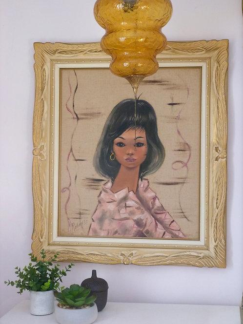 Original painting on canvas - Young bohemian woman - Roberto