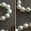 Thumbnail: Ensemble collier et bracelet en fausses perles