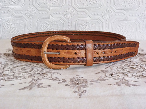 Leather Belt for Men - Mexican crafts - Size M