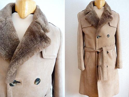 Manteau d'hiver en peau de mouton véritable