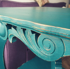 Table antique_Turquoise