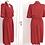 Thumbnail: Robe rayée rouge, taille cintrée