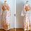 Thumbnail: Long cotton bathrobe, floral pattern - 1970s