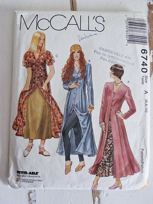 French - McCall's 6740 - Dress & Slip Dress Early 90 - Size 6-8-10