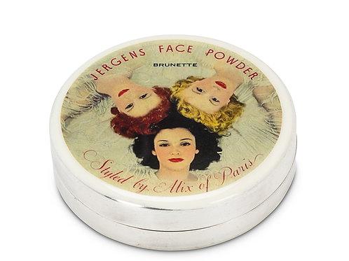 Boîtier style vintage - argent plaqué - Jergens Face Powder