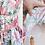 Thumbnail: Robe courte sans manches à motif floral, jupon intégré